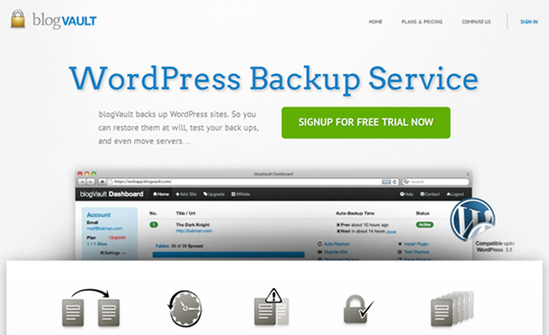 blogVault WordPress Backup