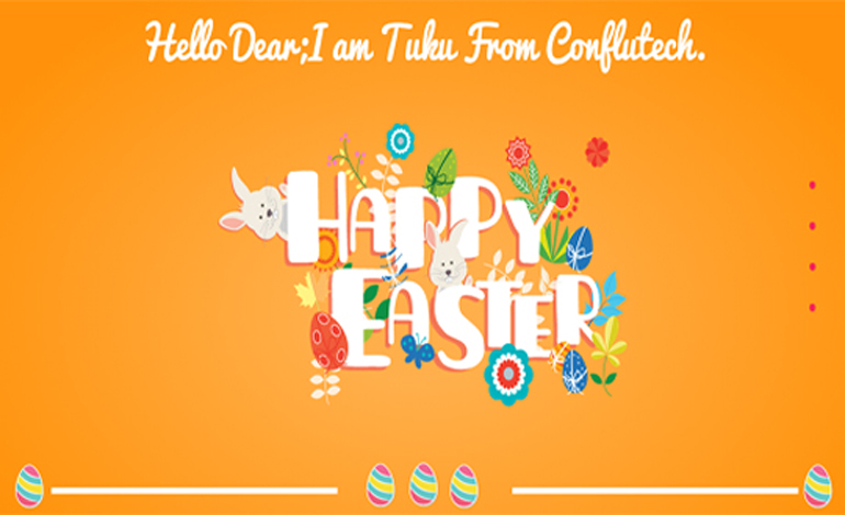 Happy Easter Invitation Website Template