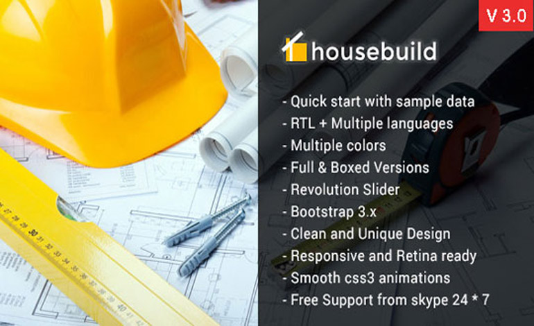 Housebuild Joomla Construction Business Theme