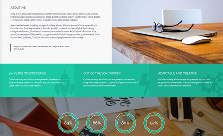 Kingster One Page HTML5 Portfolio Template