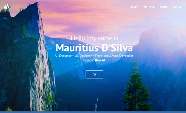 Mauritius DSilva Portfolio Website