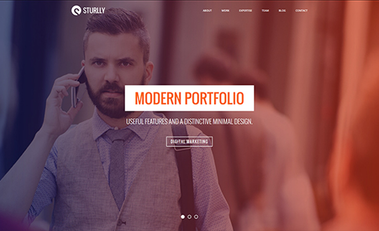 Sturlly Responsive One Page Multi Purpose Template