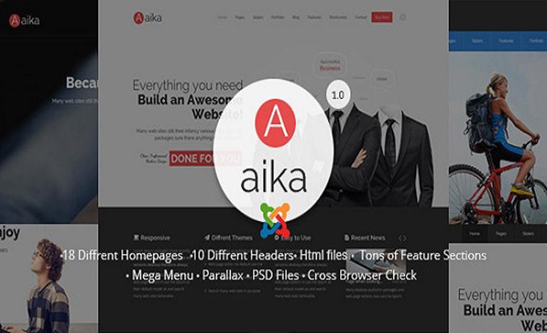 AaikaResponsive Multipurpose Joomla Template