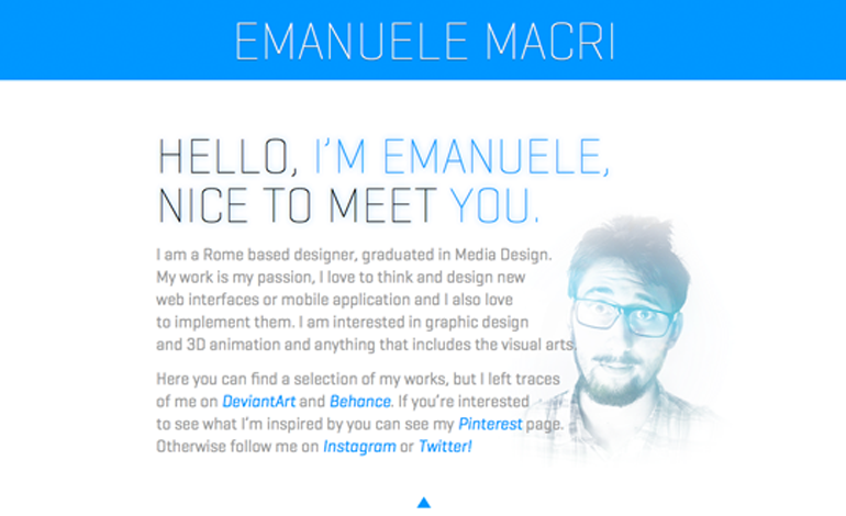 Emanuele Macri | Interface and Web Designer