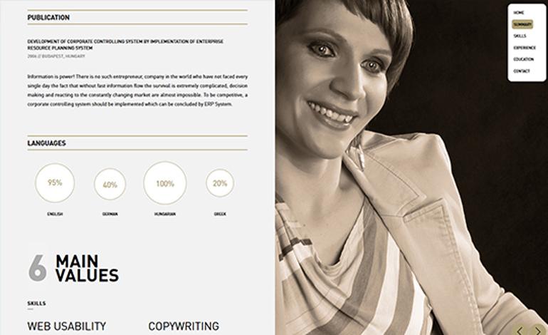 veronika sudi online resume website csslight