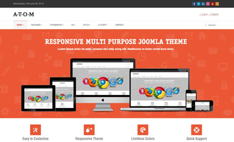 A-T-O-M | Responsive Multipurpose Joomla Theme