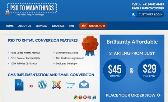 PSD To Manythings - PSD To Wordpress/Psd To HTML/PSD To XHTML/PSD To Joomla/PSD To Opencart