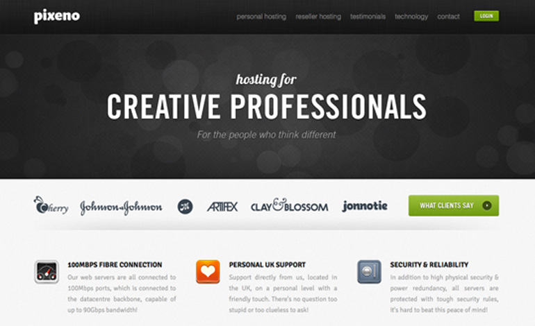 Pixeno - Designers Hosting