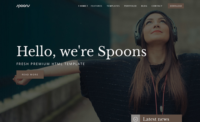 SPOONS HTML Multi page Website Template