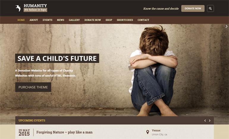 Humanity Ngo Charity Wordpress Theme Csslight