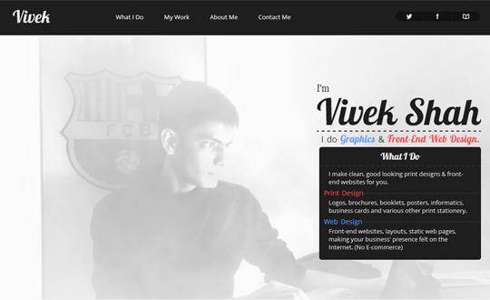 Vivek Shah - A Digital Portfolio