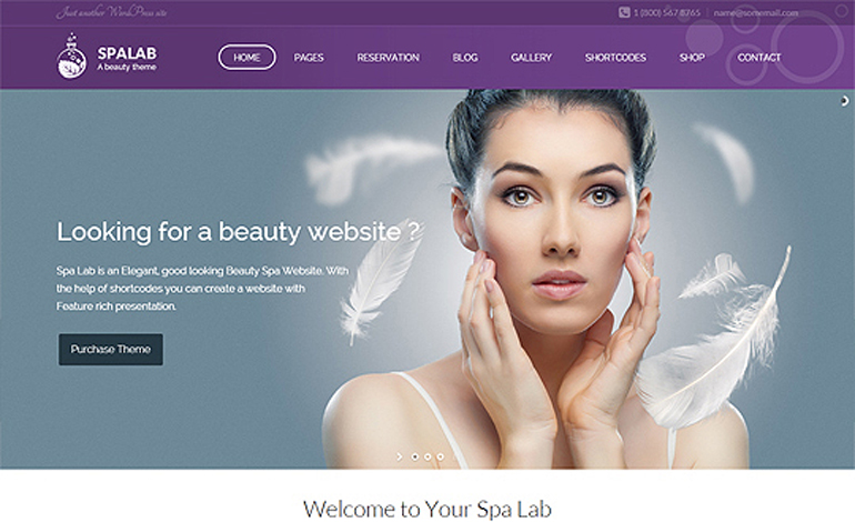 Spa Lab Beauty Salon WordPress Theme