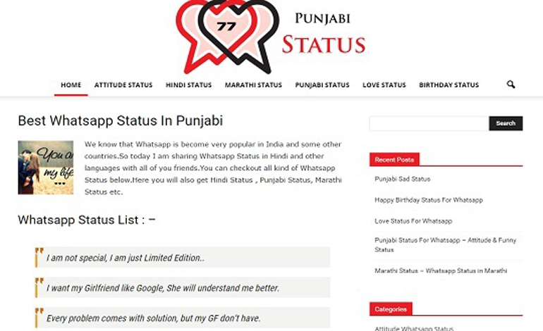 Punjabi Status 77 CSS Light CSS Gallery Featured Of The Day CSS Showcase