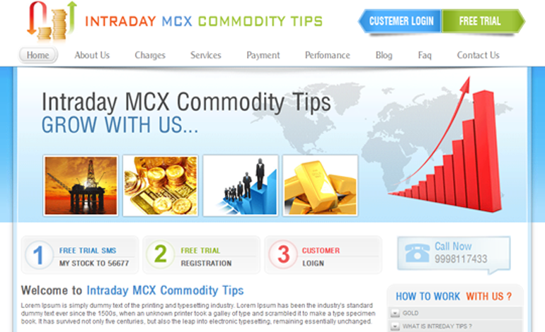 Intraday MCX Commodity Tips