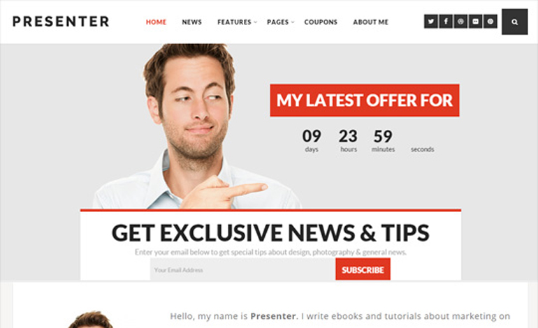 Presenter Bold WordPress Theme