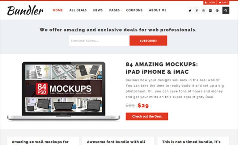 Bundler WordPress Blog Theme With Easy Digital Downloads