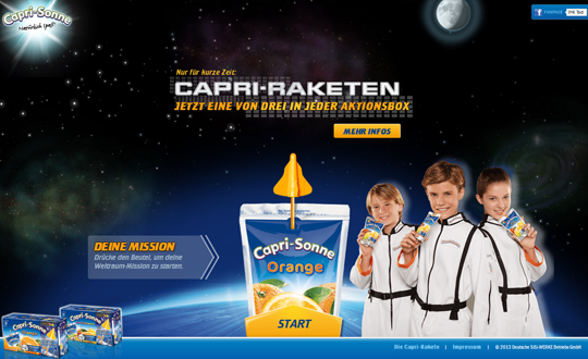 Capri-Sonne Rakete
