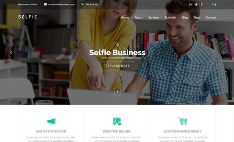 Selfie Responsive MultiPurpose WordPress Theme