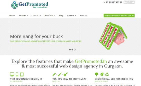 GetPromoted.in  Web Design Gurgaon