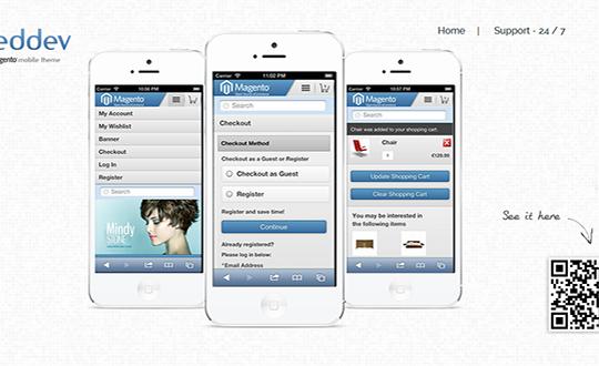 Magento mobile & iphone theme
