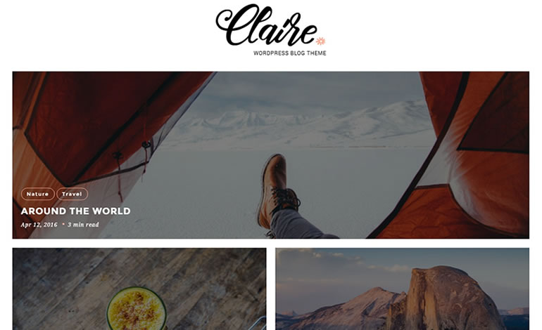 Claire Simple Personal Blog WordPress Theme