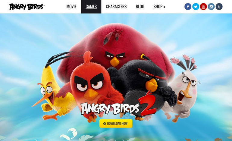 Angry Birds Brand Website