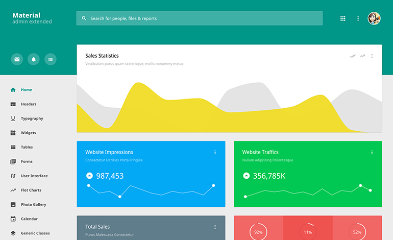 Material Admin Extended Template