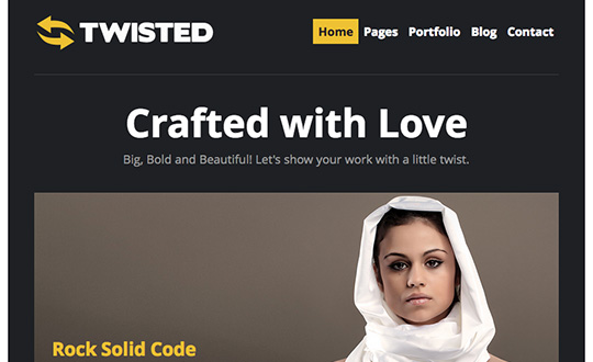 Twisted Wordpress Theme