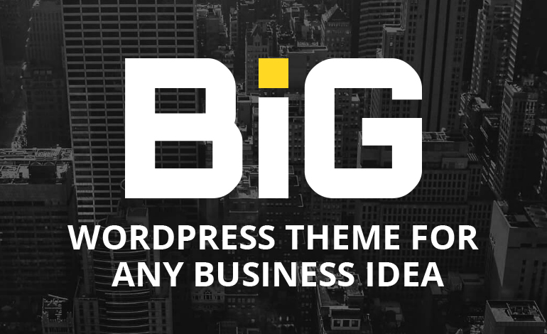 BIG WordPress Theme for Any Business Idea