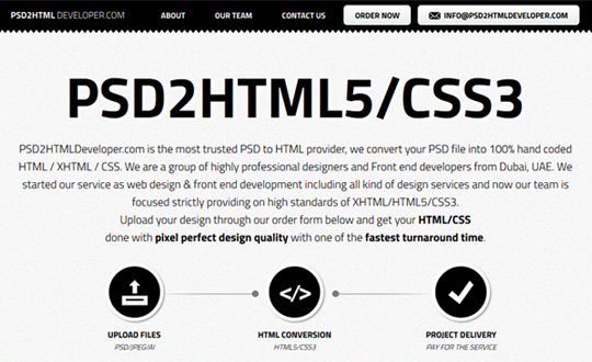 PSD2HTML Developer