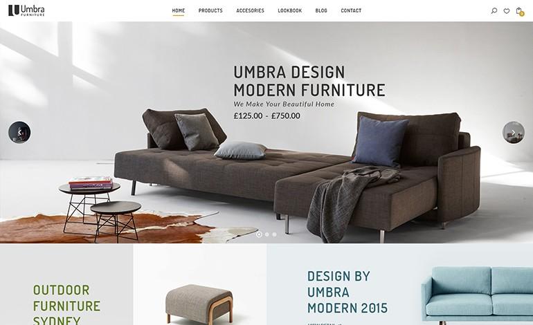 Umbra Furniture Interior WordPress Theme- CSSLight