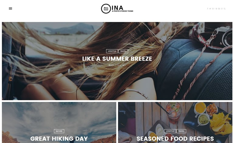 Ina A WordPress Theme for Photo Stories