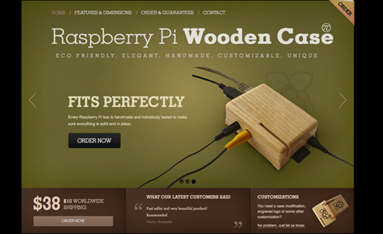 Raspberry Pi Wooden Case