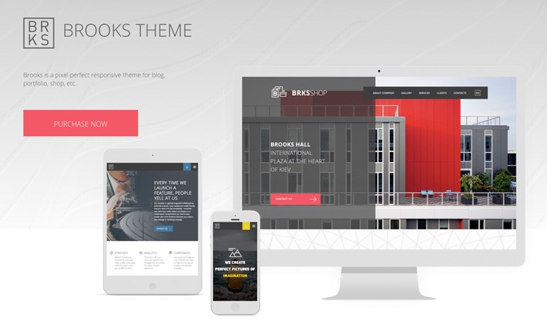 Brooks Creative Multi Purpose WordPress Theme
