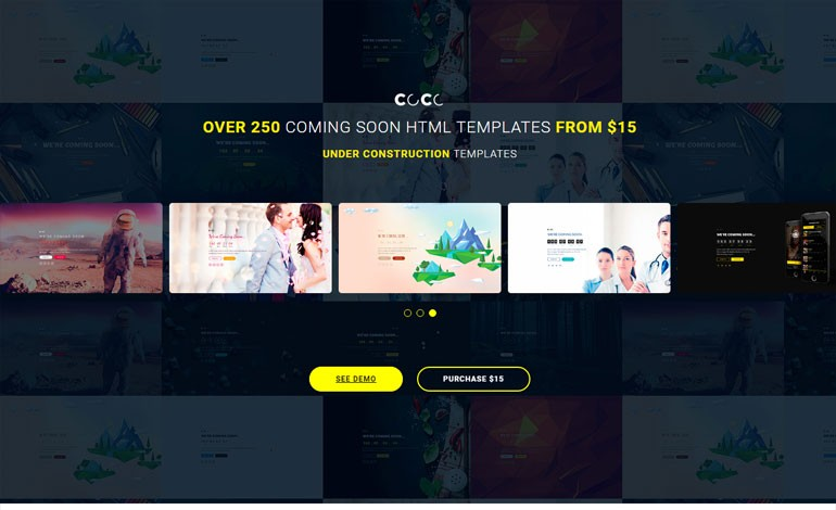 coco responsive html multipurpose under construction coming soon