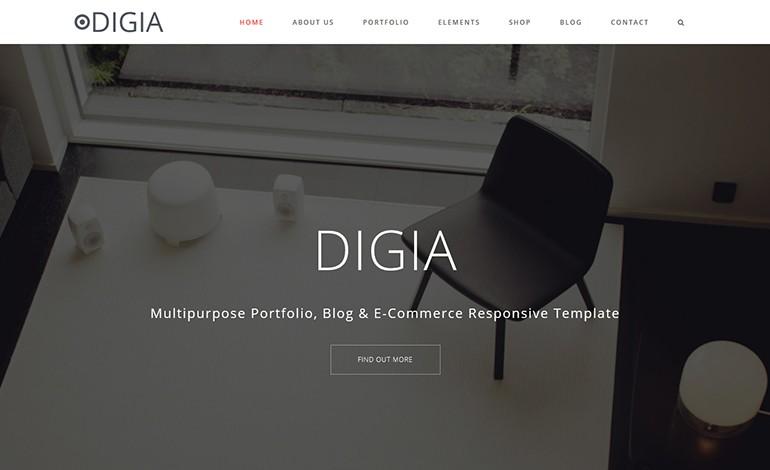Digia Digital Creative Responsive Multipurpose Template