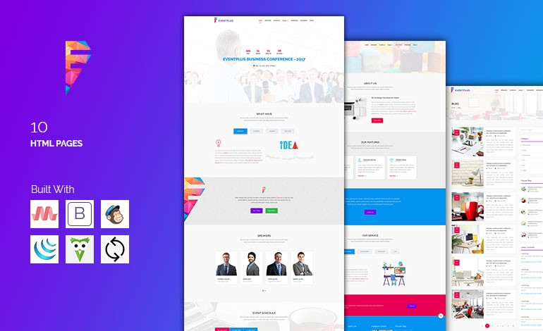 EVENTPLUS  Conference and Event Management Responsive Theme