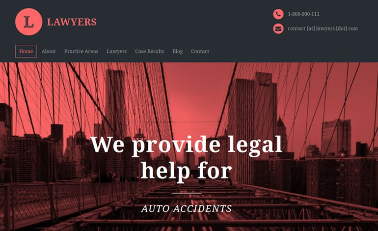 Lawyers WordPress Theme for Attorneys and Law Firms