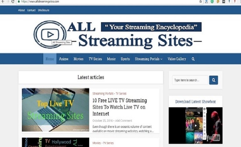 All Streaming Sites