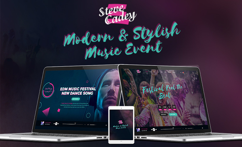 Steve Cadey WordPress Theme For Music and Event Websites