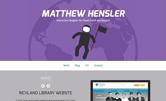 Matthew Hensler Interactive Designer