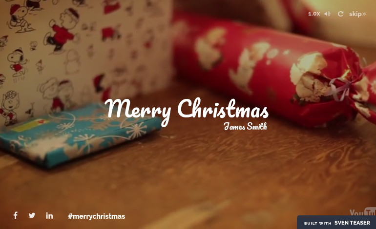 Personalized Holiday Greeting Web Teaser