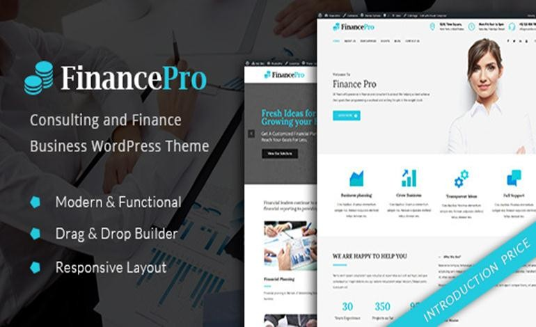 Consulting and Finance Business WordPress Theme