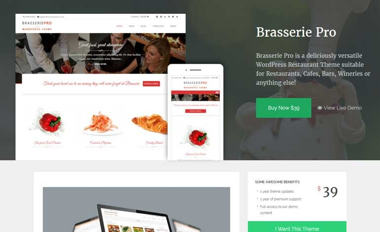 Brasserie Premium WordPress Theme