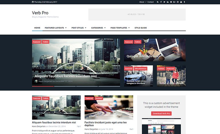 Verb Pro WordPress Theme