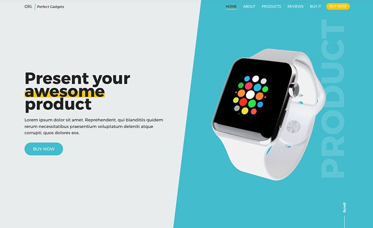 Olli Single Product Landing Page