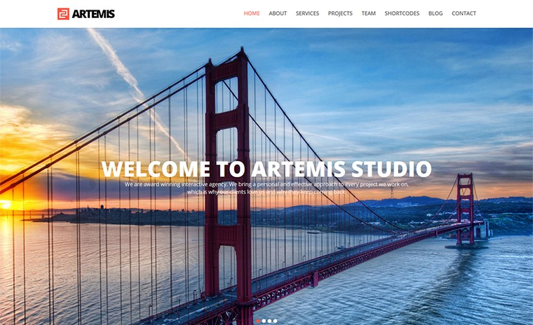 Artemis Responsive One Page Parallax Theme