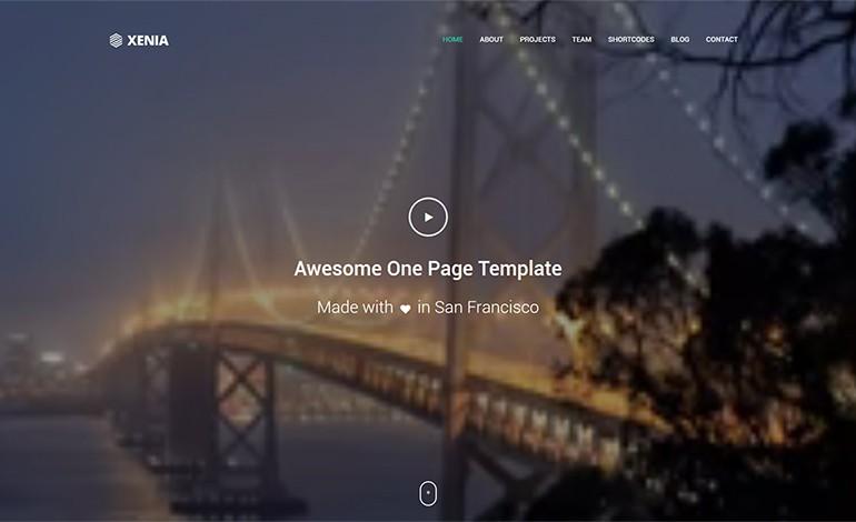 xenia responsive one page parallax theme csslight