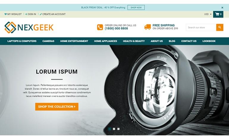 NexGeek  Multipurpose Responsive Theme