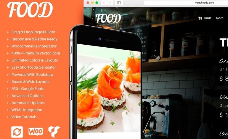Food Restaurant Pub and Bar WordPress Theme